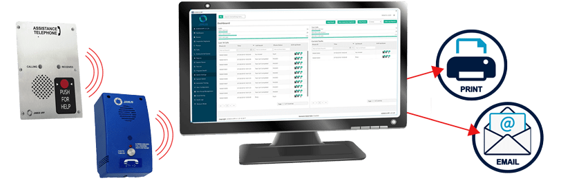 Janus Automated Call Management System (ACMS) is a PC-based system designed for remote programming and testing of phones