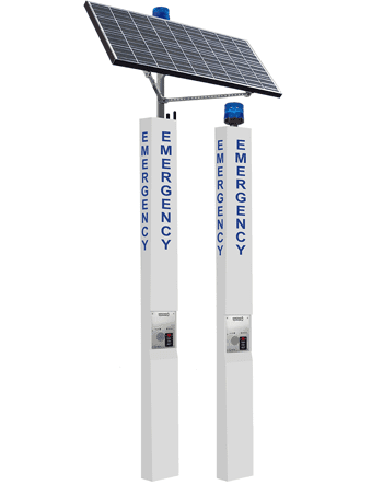 9 ft Blue Light Solar and Standard Towers