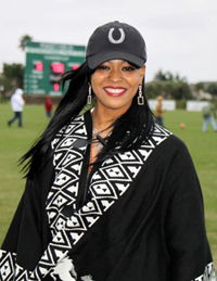 Dominique Nicole at  the West Palm International Polo Club