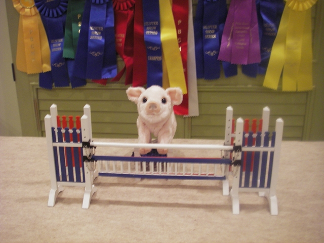 Even pigs like our jumps