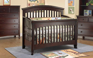 Dark Wood Convertible Cribs