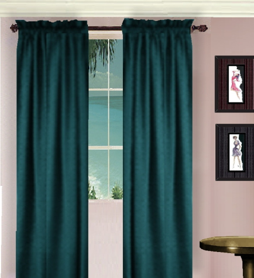 Solid Teal Or Dark Teal Long Curtains Lined Or Unlined