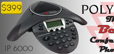 Buy a Refurbished Polycom SoundStation IP 6000 PoE Conference Phone