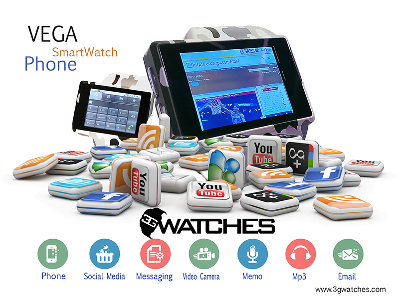 Music That Doesn T Need Wifi >> Android Watch Phone VEGA SmartWatch The World's Most Advanced Smartwatch Phone