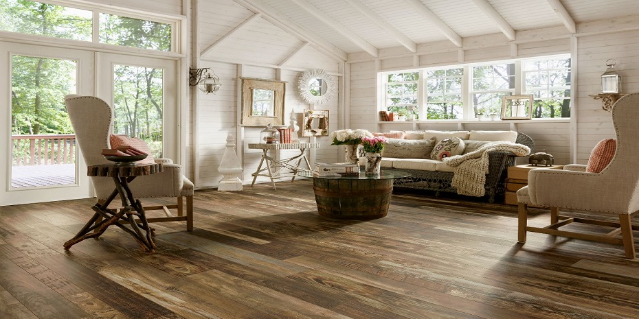 Armstrong Architectural Remnants Woodland Reclaim Old Original Dark Laminate Flooring