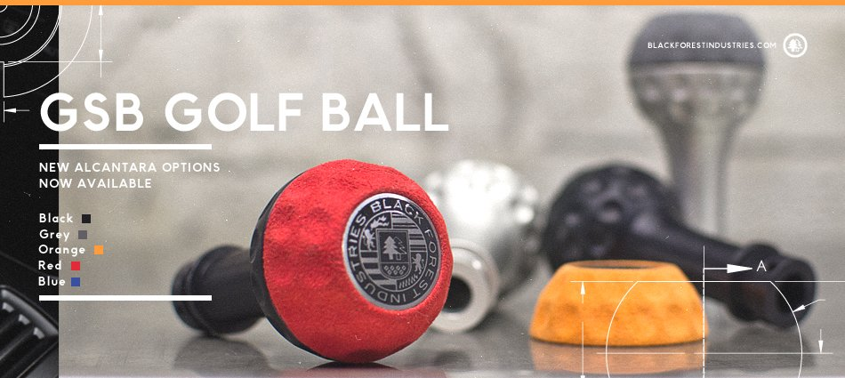 BFI Heavy Weight Shift Knob - Golf Ball (VW/Audi Fitment)