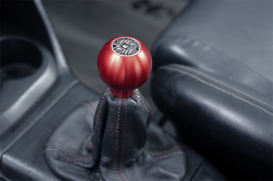 BFI Heavy Weight Shift Knob RED - Full Billet (VW/Audi Fitment)