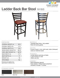 Ladderback Bar Stool