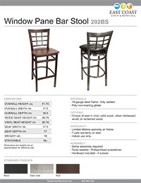 Window Pane Bar Stool