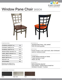 Window Pane Chair