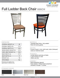 Full Ladder Back Chair