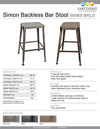 Simon Backless Bar Stool