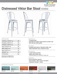 Distressed Viktor Bar Stool