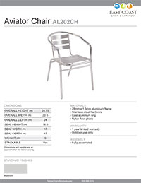 Aviator Commercial Outdoor Aluminum Ladderback Chair