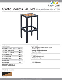 VALUE LINE Commercial Outdoor Brushed Aluminum Three Vertical Back Restaurant Chair