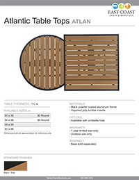 Atlantic Teak Table Top