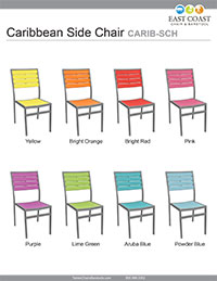 Caribbean Collection Side Chair Silver