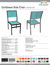 Caribbean Collection Side Chair