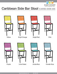 Caribbean Collection Side Bar Stool