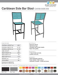 Caribbean Bar Stool
