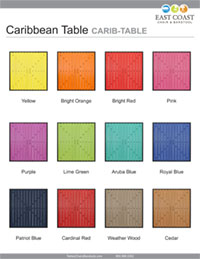 Caribbean Collection Table Top