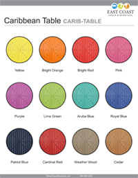 Caribbean Collection Round Table Top
