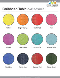 Caribbean Table Top Silver ROund