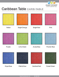 Caribbean Table Top Silver