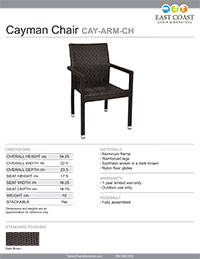 Cayman Arm Chair