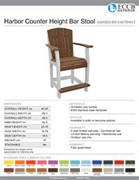 Harbor Collection Counter Height Bar Stool