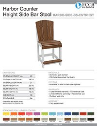 Harbor Collecion Side Bar Stool in Counter Height