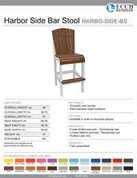 Harbor Collection Side Bar Stool