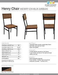 Henry Steel Chair with Distressed Wood