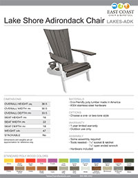 Lake Shore Adirondack Chair