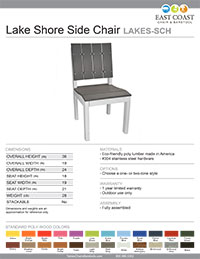 Lake Shore Collection Side Chair