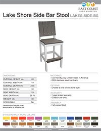 Lake Shore Collection Side Bar Stool