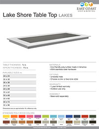 Lake Shore Table Top