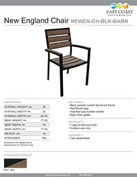 Shipyard Indoor Black Chair