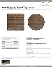 New England Table Top