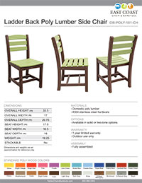 Poly Lumber Chair