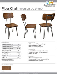 Piper Industrial Dining Chair Bar Amp Restaurant Furniture