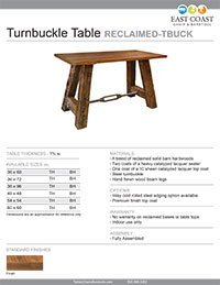 Turnbuckle Table