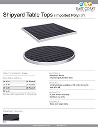 Aluminum Outdoor Table Top