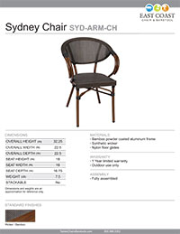 Sydney Arm Chair