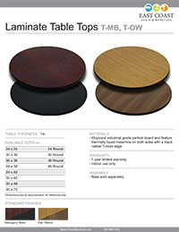 Reversible Cafe Table Top