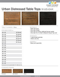 Urban Distressed Wood Table Top