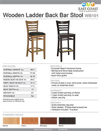 Gladiator Wood Bar Stool