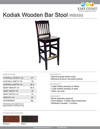 Kodiak Bar Stool