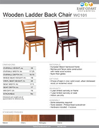 Gladiator Wood Chair