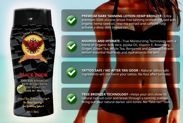 Immoral Black Book Tanning Lotion